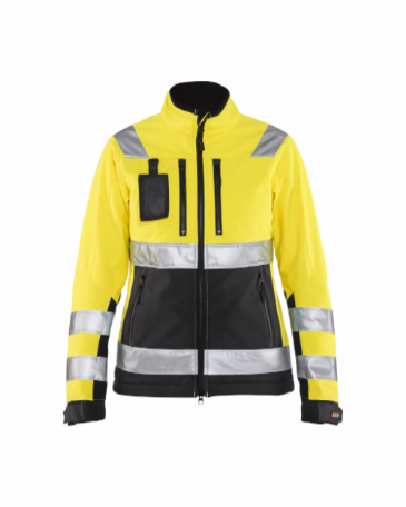 Blaklader 4902 Ladies High Vis Softshell Jacket (Yellow/Black)